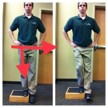 eccentric step down exercise