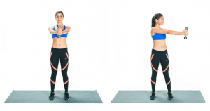 Standing core rotation exercise