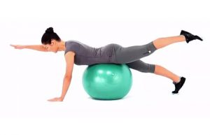 Exercises on swiss ball for scoliosis