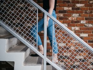 Climbing stairs with knee pain