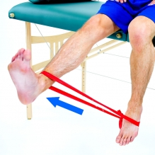 Seated knee Extension with a Band