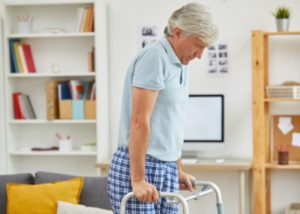 Walking after a knee replacement