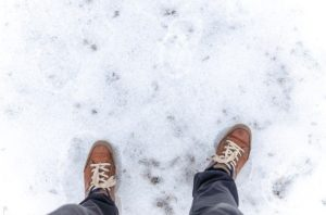 WInter can be slippery for a knee replacement