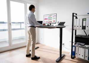 Standing at a standing desk
