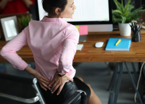 back pain in sitting