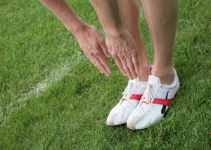 Touching your toes to assess sciatic nerve tension