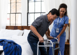 using a walker after a total knee replacement