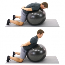 back extensions on swiss ball to stand up straight