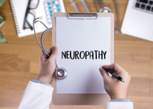 a doctor looking at neuropathy