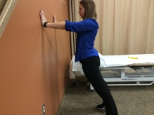 Standing Lumbar Wall Extension for back spasms