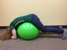 swiss ball traction for low back pain