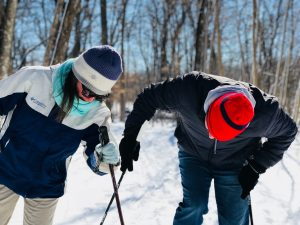 Check your posture and position when using ski poles
